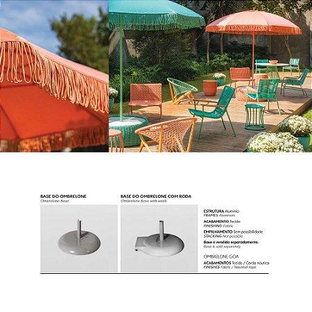 Ombrelone Goa Com base Tecido Alumínio Revestido -  piscina jardim Tidelli Cordas Náuticas Ribeirão Preto
