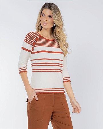 Suéter Detalhe Botões