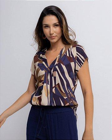 Blusa Estampada Francisca Abstrato
