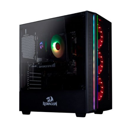 PC Gamer Redragon Nero AMD Ryzen 5 3500, RAM 8GB, SSD 256GB e HD 1TB, GEFORCE GTX 1660 6GB
