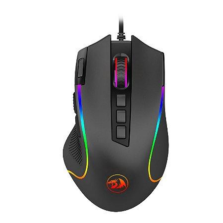 Mouse Gamer Redragon Predator Preto RGB M612-RGB