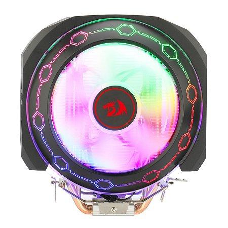 Aircooler Redragon Odin Preto Iluminação Rainbow com 2 Fans de 140mm CC-9202