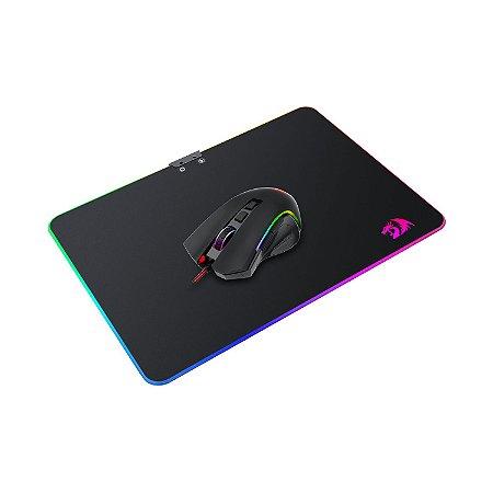 Kit Mouse e Mousepad Gamer Redragon M602-BA RGB