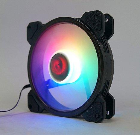Kit fan com 3 unidades Redragon, RGB, 120mm, C/Controladora, GC-F009