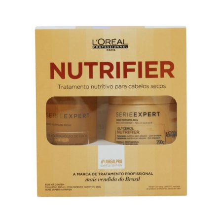 L'Oréal Pro Nutrifier Kit (Shampoo 300ml + Máscara 250g)