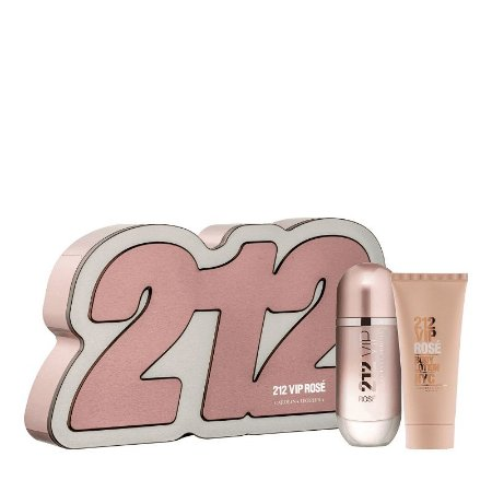 Carolina Herrera 212 VIP Rosé Kit (EDP 80 ml + Loção Corporal 100ml)