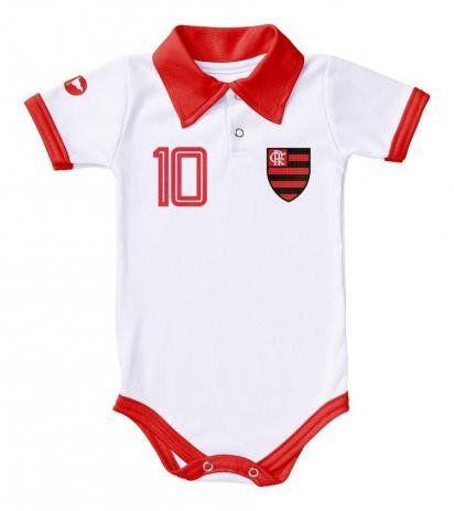 Body Oficial Flamengo Polo Branco - GG