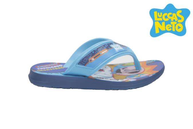 Chinelo Infantil Luccas Neto 22154 - Land - Azul