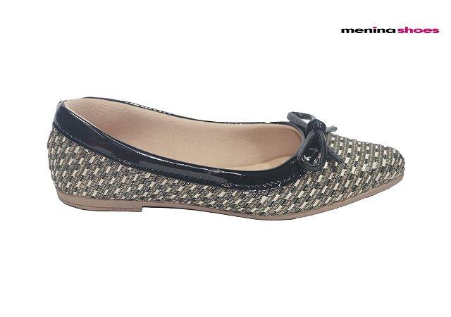 Sapatilha Infantil Menina Shoes 6.618 - Preto
