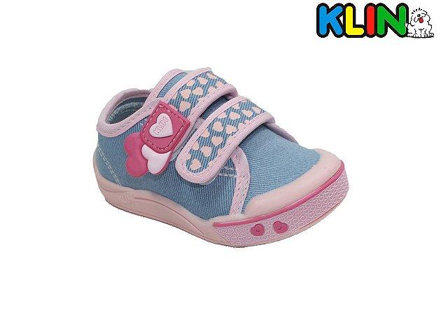 Tênis Infantil Feminino Klin - 942162 - Jeans