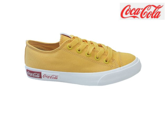 Tênis Coca-Cola Feminino CC1687 - Amarelo