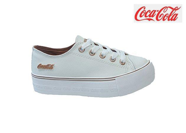 Tênis Coca-Cola Plataforma Feminino CC1775 - Branco
