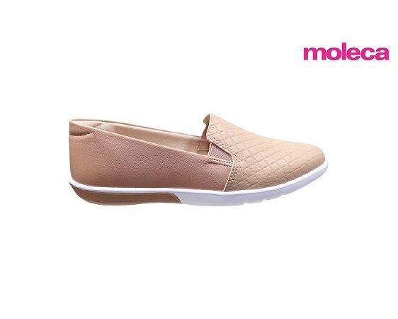 Tênis Slip On Moleca 5691.106 - Nude