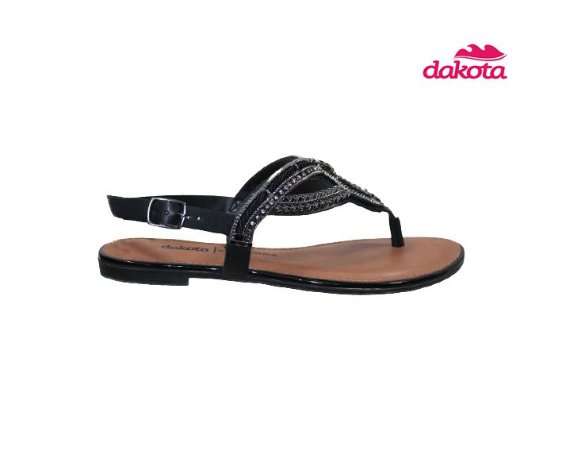 Sandalia Rasteira Dakota Z7202 - Preto