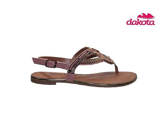 Sandalia Rasteira Dakota Z7202 - Lichia