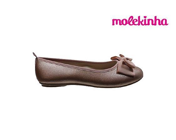 Sapatilha Infantil Feminina Molekinha 2502.371 - Ouro