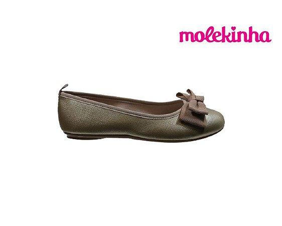 Sapatilha Infantil Feminina Molekinha 2502.371 - Dourado