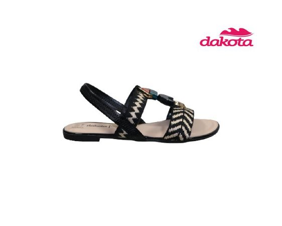 Sandalia Rasteira Dakota Z7402 - Preto