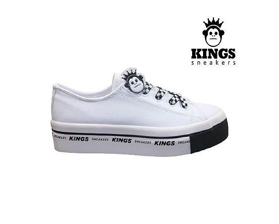 Tênis Feminino Kings KG0012 - Branco