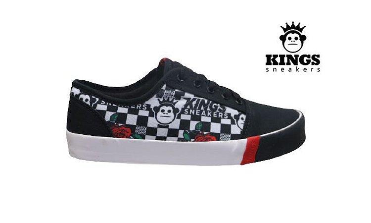 Tênis Feminino Kings KG0023 -  Preto