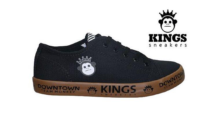 Tênis Infantil Masculino Kings KG0011 - Preto Caramelo