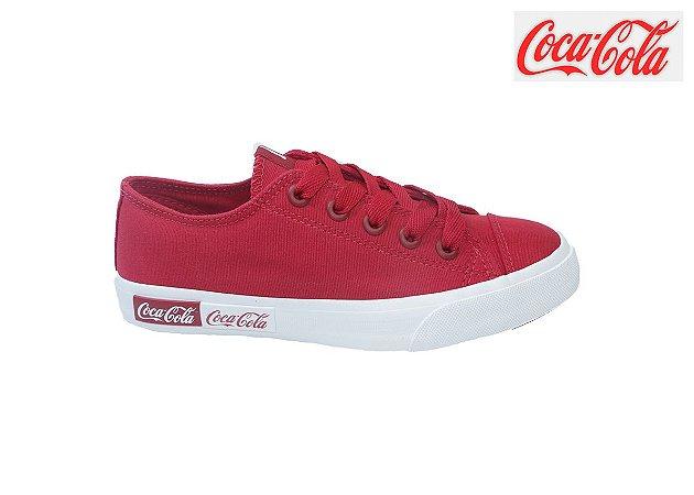 Tênis Coca-Cola Feminino CC1687 - Vermelho