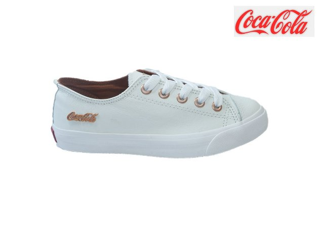 Tênis Coca-Cola Feminino CC1754 - Branco