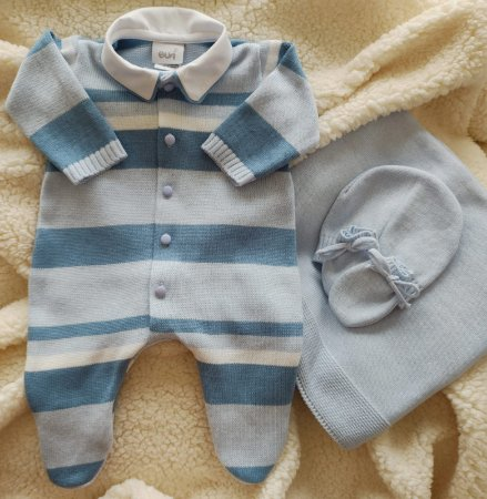 Saída Maternidade Tricot Masculina cód.9806S