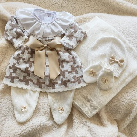 Saída Maternidade Tricot Feminina cód.9840S