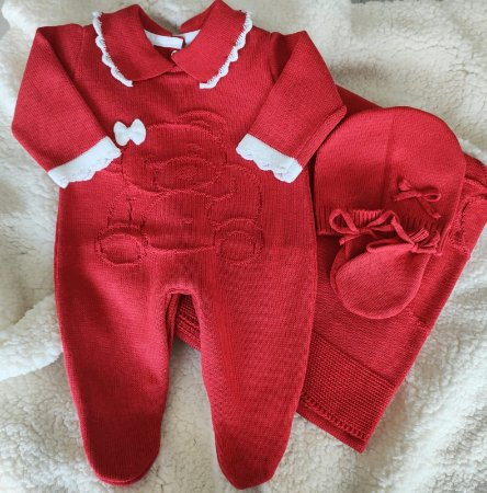Saída Maternidade Tricot Feminina cód.9203S