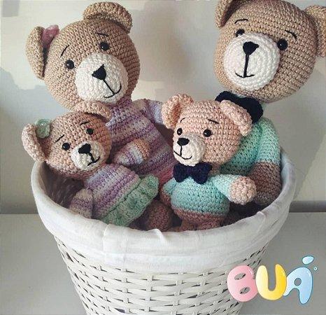 Boneco Amigurumi - Familia Urso