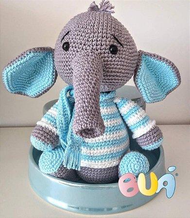 Boneco Amigurumi - Elefante