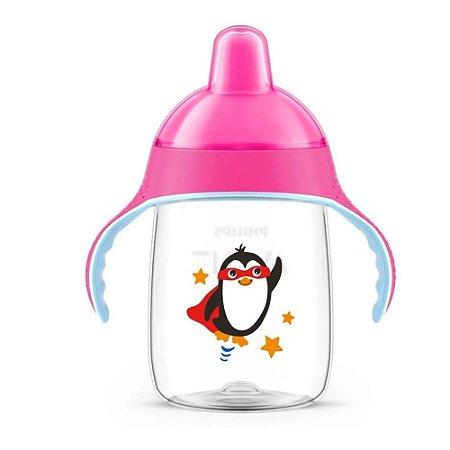 Copo Pinguim Philips Avent 340 ml - Rosa