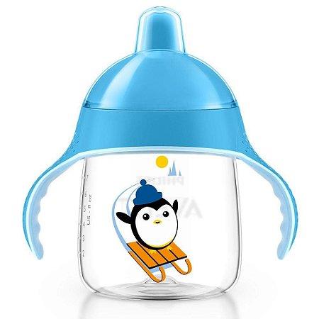 Copo De Treinamento Pinguim 260ml Azul Philips Avent