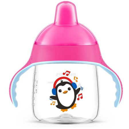 Copo Pinguim Philips Avent 200ml Rosa