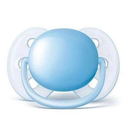 Chupeta Avent Ultra Soft Lisa Azul 6-18M