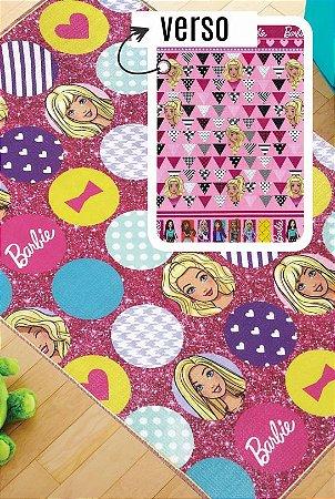Tapete Recreio 1,20 X 1,80 Barbie - frente e verso