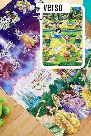 Tapete Recreio Disney 1,20 X 1,80 Princesas - frente e verso