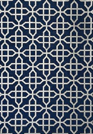 Tapete Illusion 1,40 X 2,00 Prata/Azul 04