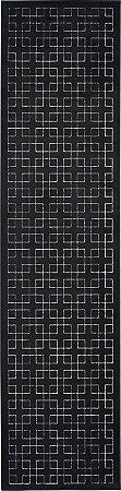 Passadeira Illusion 0,67 X 2,50 Preto 02