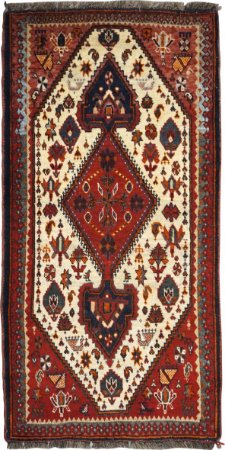 Tapete Abadeh 0,65 X 1,27 Iraniano L49180