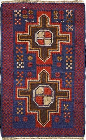 Tapete Nomade 0,79 X 1,36 Afegão 158636