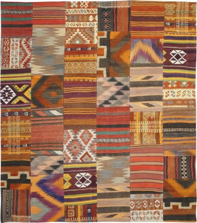 Tapete Shahrouzi Kilim Patchwork 2,08 X 2,44 Cod/3426