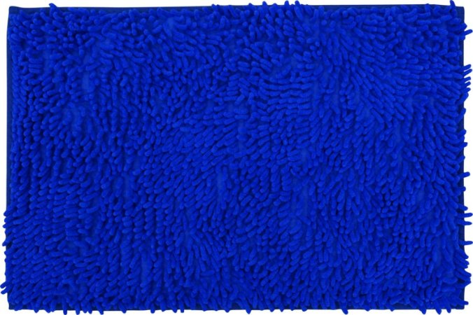 Tapete/Ban Bell Valley Chenille Shaggy 0,40 X 0,60 Azul Royal