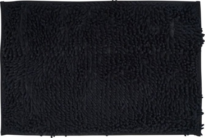 Tapete/Ban Bell Valley Chenille Shaggy 0,40 X 0,60 Preto