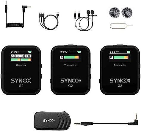 Microfone de Lapela Synco WAir-G2-A2 Ultracompact 2-Pessoas (2.4 GHz)