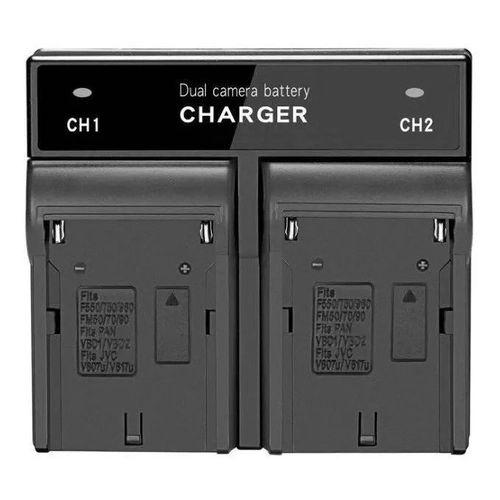 Carregador Duplo Generico para baterias F970