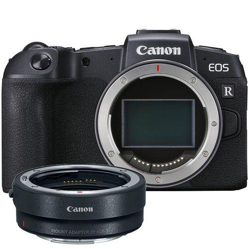 Camera Canon EOS RP com Adaptador EOS R