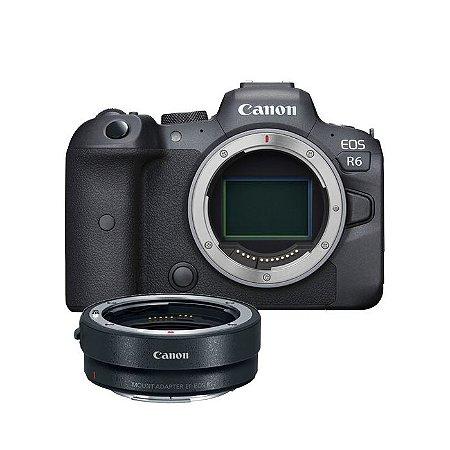Camera Digital EOS R6 Corpo com Adaptador EOS R NFe