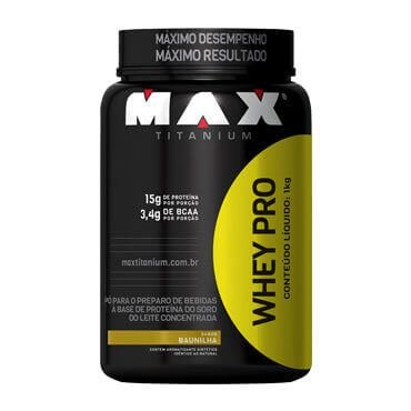 Whey Pro (1kg) Pote - Max Titanium